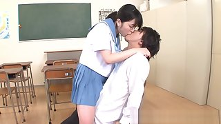 Erika Kitagawa, naughty Asian schoolgirl has sex in the classroom